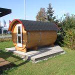 Sauna-Fass ca. 328cm x D=200cm,