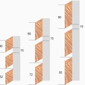 Lärche Rhombus-Latten 25×80/92