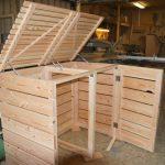 Mülltonnenbox Modul 2er